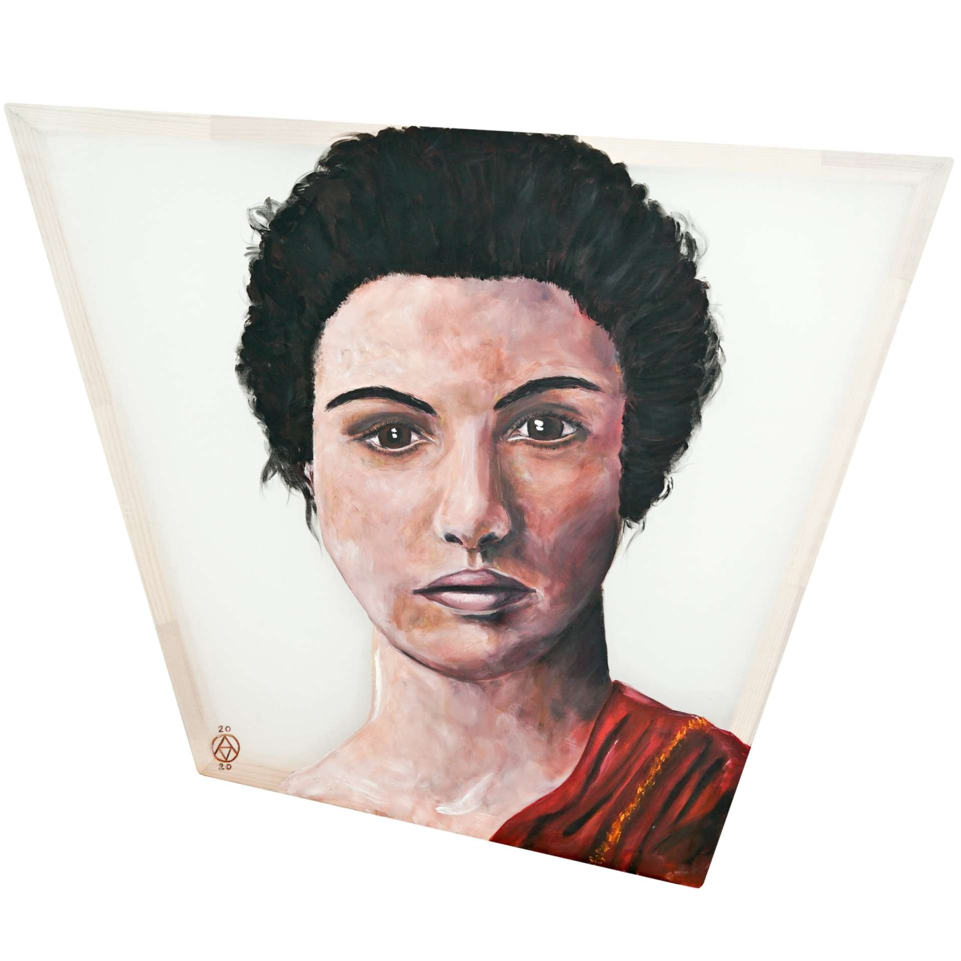 Hypatia portrait by Anya Vero Oil On Silk