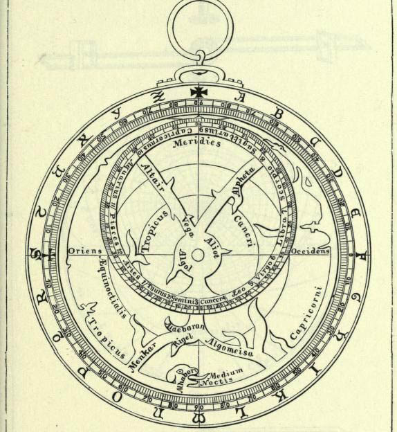 Astrolabe drawing Hypatia