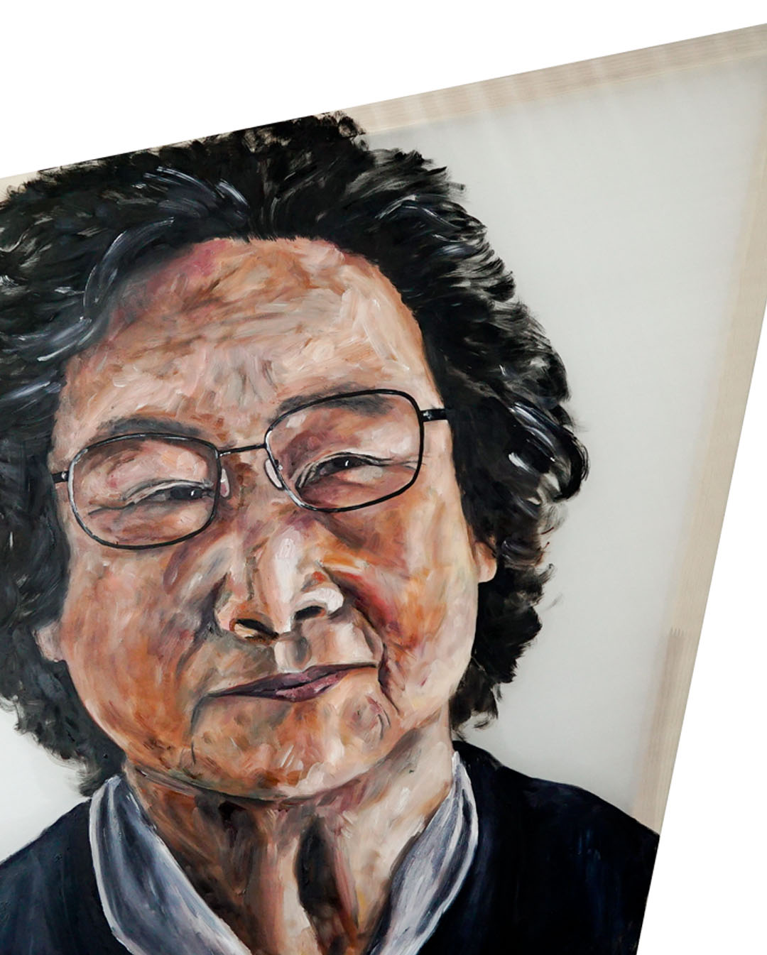 Tu Youoyou portrait by Anya Vero Oil on silk