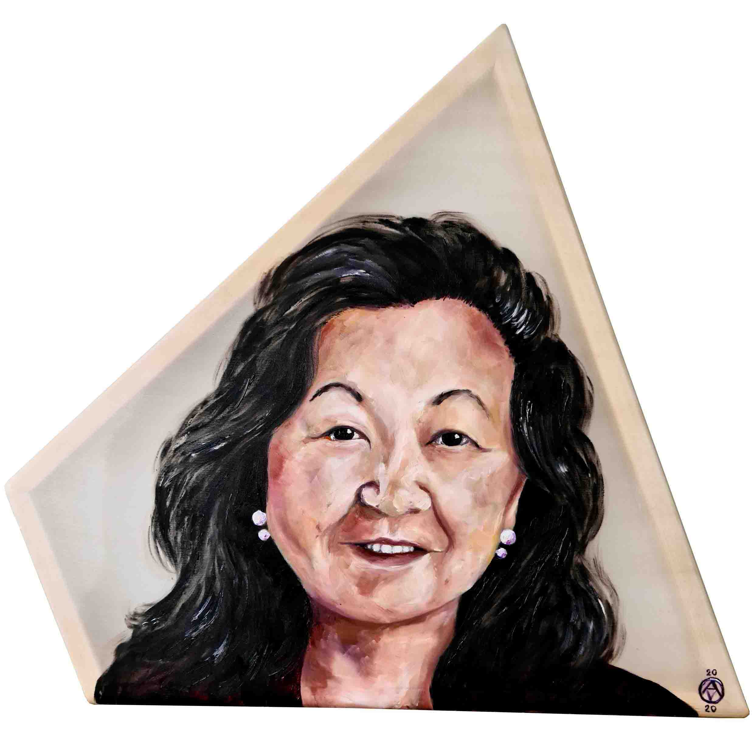 Ann Tsukamoto by Anya Vero oil painting portrait