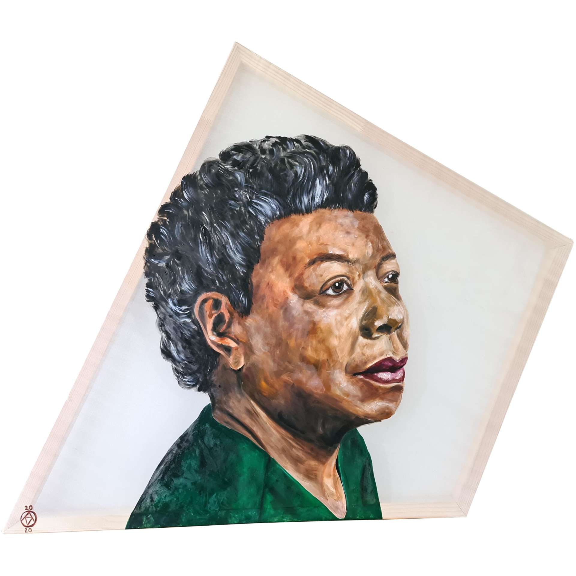 Maya Angelou by Anya Vero oil painting portrait