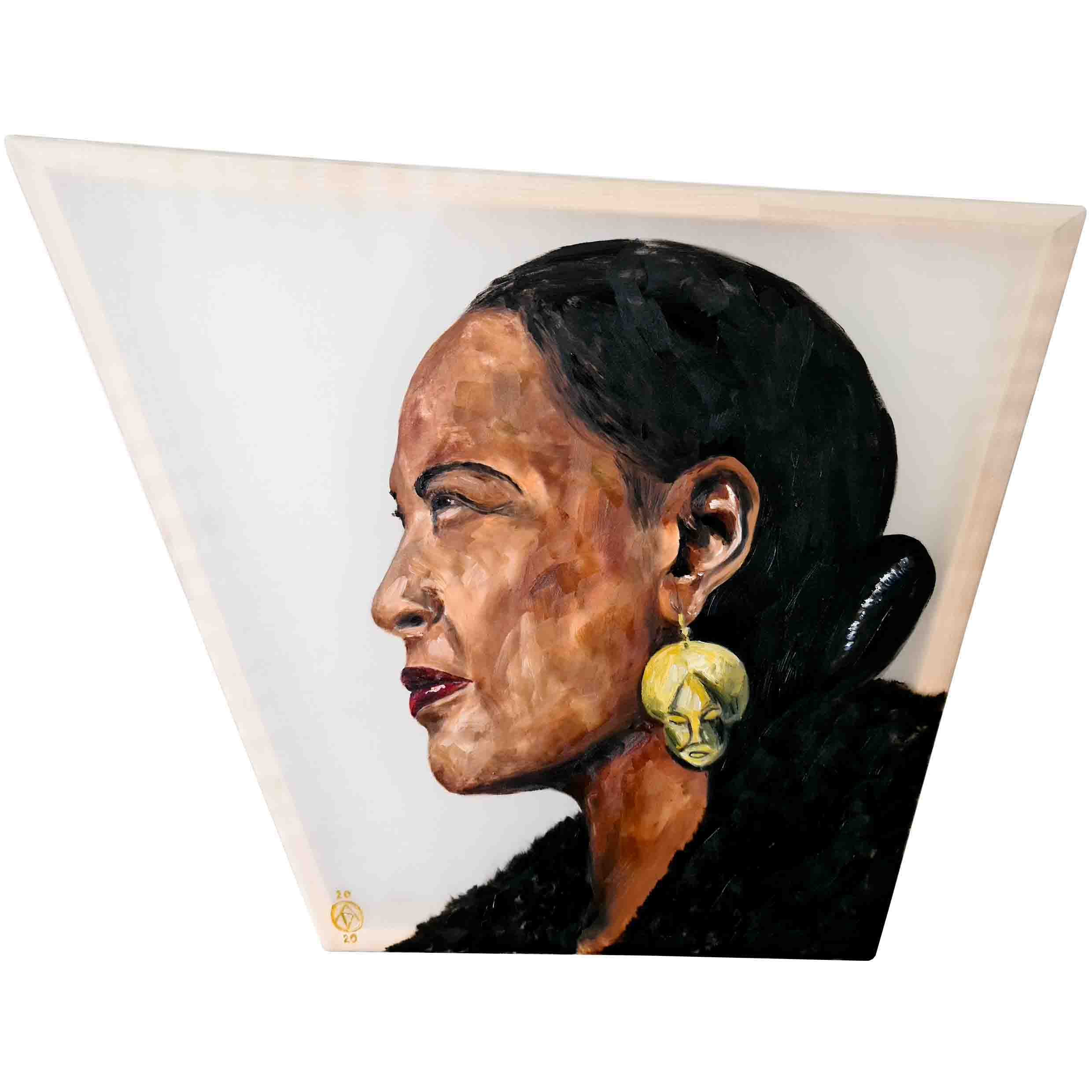 Billie Holiday by Anya Vero oil painting portrait