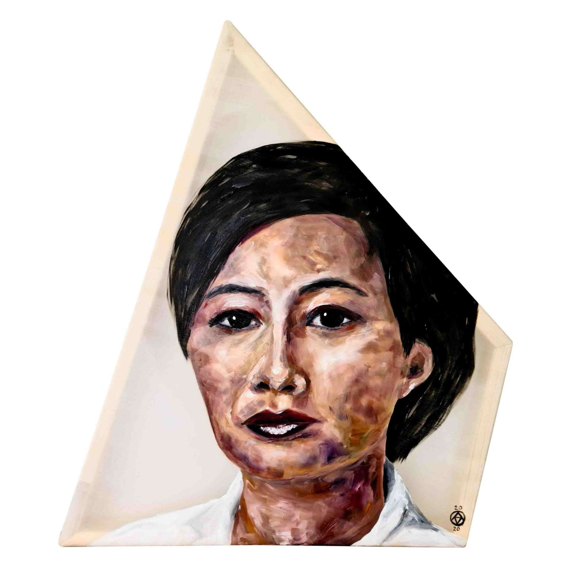 Flossie Wong-Staal by Anya Vero oil painting portrait
